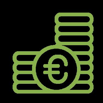 Immunitas Buchhaltung Geldstapel